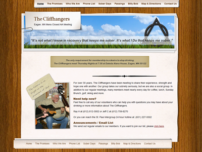 the cliffhangers<hr>design<br>wordpress