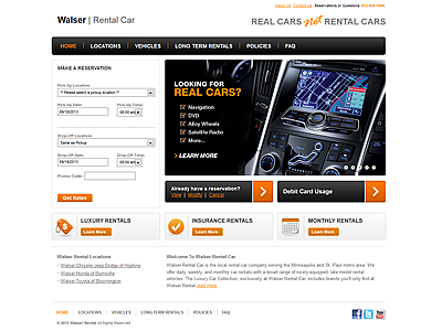 Walser Rental Car<hr>e-commerce<br>wordpress