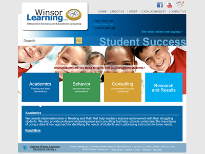 Winsor Learning<hr>design<br>e-commerce<br>wordpress