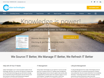 Cadan Technologies<hr>responsive design<br>wordpress