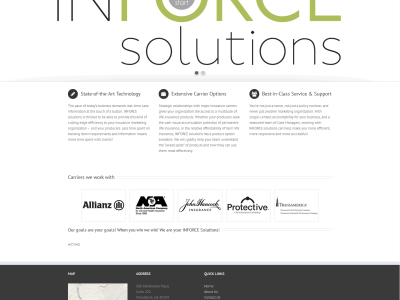 InforceSolutions<hr>responsive design<br>wordpress