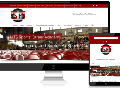 Sports Career Academy<hr>responsive design<br>wordpress