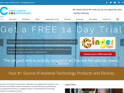 Cadan Assistive Technologies<hr>responsive design<br>wordpress