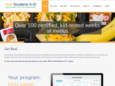 NutriStudents K-12<hr>responsive design<br>wordpress