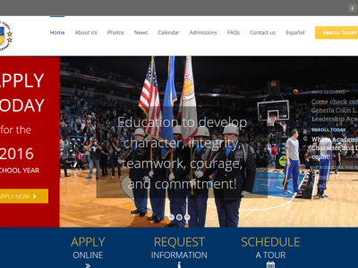 General Colin L. Powell Leadership Academy<hr>responsive design<br>wordpress