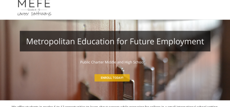Metropolitan Education for Future Employment<hr>responsive design<br>wordpress