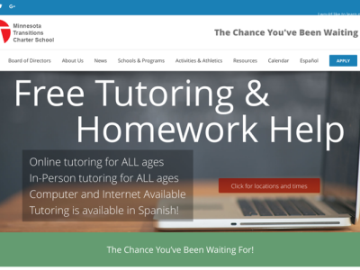 MTS Charter Schools<hr>responsive design<br>wordpress