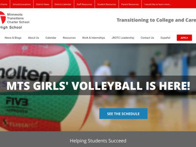 MTS High School<hr>responsive design<br>wordpress